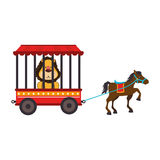 Cute lion animal circus. Vector illustration design Royalty Free Stock Photos