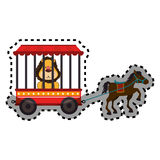 Cute lion animal circus. Vector illustration design Royalty Free Stock Images