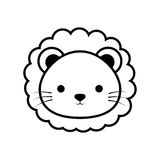 Cute lion animal isolated icon Stock Photo