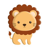 Cute lion animal isolated icon Stock Photos