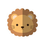 Cute lion animal isolated icon Stock Photography
