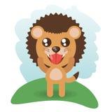 Cute lion animal wildlife. Vector illustration eps 10 Stock Photo