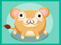 Cute Lion Cartoon. Funny cartoon and vector animal characters Stock Photos