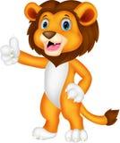 Cute lion cartoon giving thumb up Stock Photo