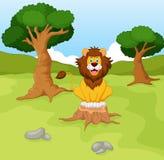 Cute lion cartoon. Illustration of cute lion cartoon Royalty Free Stock Photography