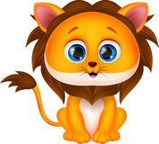 Cute lion cartoon. Illustration of Cute lion cartoon Royalty Free Stock Image