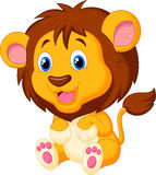 Cute lion cartoon Royalty Free Stock Photos