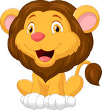 Cute lion cartoon Stock Photos