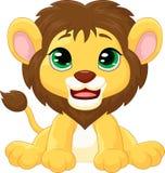 Cute lion cartoon Stock Photos