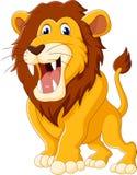 Cute lion cartoon Stock Images