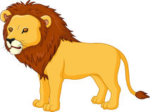Cute lion cartoon Stock Image