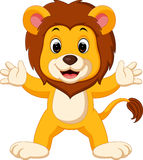 Cute lion cartoon Royalty Free Stock Image