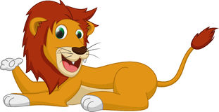 Cute lion cartoon Stock Images