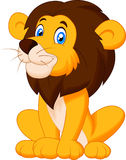 Cute lion cartoon sitting Royalty Free Stock Photos