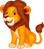 Cute lion cartoon sitting Stock Image