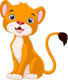 Cute lion cartoon sitting Royalty Free Stock Images