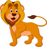 Cute lion cartoon Stock Photography