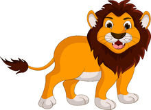 Cute lion cartoon smiling
