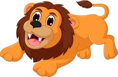 Cute lion cartoon smiling Stock Photos