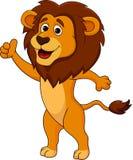 Cute lion cartoon thumb up Royalty Free Stock Image