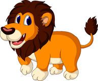 Cute lion cartoon walking Stock Photography