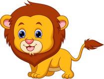 Cute lion cartoon Stock Image