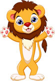 Cute lion cartoon Stock Photography