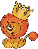 Cute lion crown Stock Image