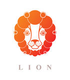 Cute lion face Stock Image