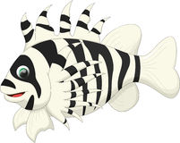 Cute lion fish cartoon Royalty Free Stock Photo