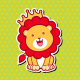 Cute Lion. Illustration. EPS 10 file and large jpg included Stock Photo