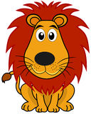 A cute lion sitting Stock Images
