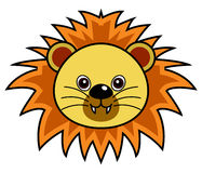 Cute Lion Vector. Cute animal faces in  (One of 25 of them Royalty Free Stock Photo