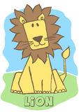 Cute Lion. Stock Photo