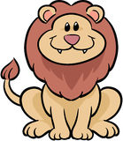 Cute lion vector illustration. Adorable african lion vector drawing Royalty Free Stock Photography