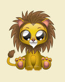 Cute Lion Vector Illustration Art. Illustration of a cute lion Royalty Free Stock Photo