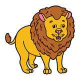 Cute lion. Vector illustration of cute cartoon lion character for children and scrap book vector illustration