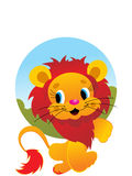 Cute lion wallpaper Stock Images