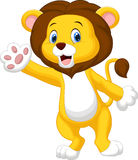 Cute lion waving hand Royalty Free Stock Image