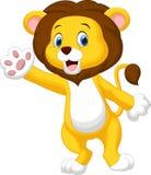 Cute lion waving hand Royalty Free Stock Image