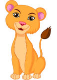 Cute lioness cartoon Royalty Free Stock Photography