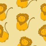 Cute lions seamless pattern vector illustration royalty free illustration