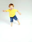 Cute litle boy having a great fun Royalty Free Stock Photos