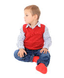 Cute litte boy looking to the side Royalty Free Stock Image