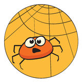 Cute litte cartoon spider Royalty Free Stock Image