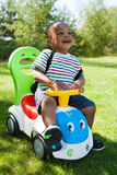 Cute Little african american baby boy playing Stock Images