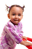 Cute little african american baby girl- Black people Stock Photography