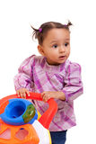 Cute little african american baby girl- Black people Royalty Free Stock Image