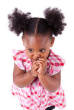 Cute little african american girl Stock Photo