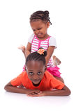 Cute little african american girl - Black children royalty free stock photos